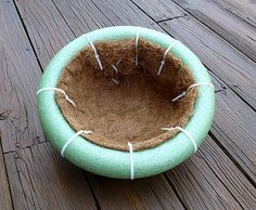 Floating Island for pond tutorial - Tip - a better and cheaper float would be a pool noodle from the dollar store.