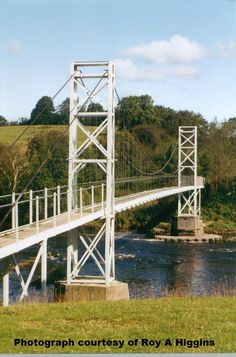 Footbridge over the river Ribble at Dinkley. Photograph Roy A Higgins.