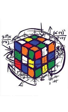 Rubik's Cube Puzzle on Light Tees / how to solve rubik's cube puzzle Math Wallpaper, Iphone Wallpaper, Cube Design, Cube Puzzle, Arte Pop, Light Art, Graffiti, Street Art, Nerd
