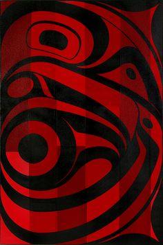 Andrew Dexel - Raven Befriending the Light - Archive Arte Tribal, Tribal Art, American Indian Art, Native American Art, American Wallpaper, Indian Quilt, Raven Art, Haida Art, Native Design