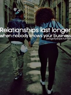thats why relationships are for TWO.