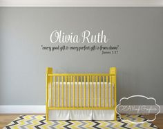 Baby Nursery Wall Decal Vinyl Lettering by OZAVinylGraphics