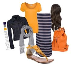 Holiness Pentecostal by colby-freeland on Polyvore featuring polyvore, fashion, style, SUIT, Tommy Hilfiger, Carlos by Carlos Santana, Vanzetti, Zatchels, fringe, backpack, apostolic, t-shirt, maxi, holiness pentecostal, jacket, denim, holiness, scarf, pentecostal, freyed, skirt, sandal, gray, navy blue, modest, christian and stripe