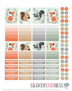 Free Printable Forest Animals Planner Stickers from StickerCuteness