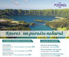 A tan solo 3 horas de Madrid o Barcelona, las nueve islas que forman las Azores son de una asombrosa belleza natural. Los paisajes, el patrimonio cultural, las experiencias que ofrecen, sus gentes y costumbres y su gastronomía, son las razones por las que descubrir estas preciosas islas.