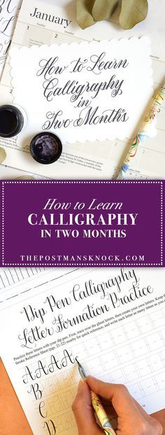 How to Learn Calligraphy in Two Months   The Postman's Knock