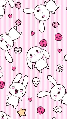 Cute Kawaii Bunny Wallpaper Background For Iphone 6 6s Headers And
