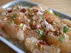 salade thaie de pamplemousse - Recette de salade thaie de pamaplemousse - Cahier de cuisine