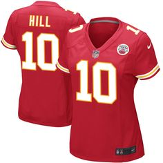 f41759b547c Tyreek Hill Kansas City Chiefs Nike Women s Game Jersey - Red