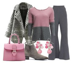 """""""Gray and Pink"""" by sillycatgrl ❤ liked on Polyvore featuring STELLA McCARTNEY, Relaxfeel, Carve Designs and Mixit"""