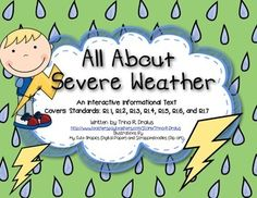 All About Severe Weather Informational Text Interactive Reader $