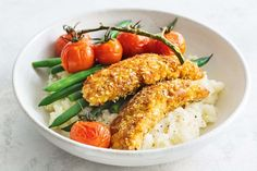 Traditional buttermilk chicken is coated in breadcrumbs and deep fried. update this crunchy classic by swapping breadcrumbs for gluten-free quinoa flakes - they are higher in protein and dietary fibre.