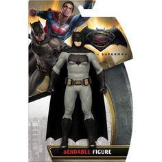 DC Comics Batman vs. Superman - Batman Bendable Figure, Multicolor