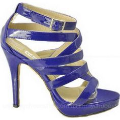 ▪☉⊙✪ Jimmy Choo Sandals Patent Strappy Blue ,♥の♥ #Christmas Holiday ……♥♥……
