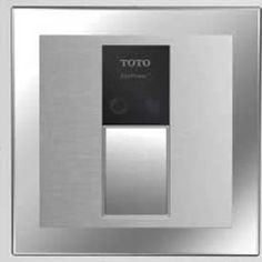 TOTO EcoPower High Efficiency Urinal Flushometer Valve GPF with Cover Plate in Stainless Steel Office Bathroom, Flush Toilet, Stainless Steel, Cover, Plate, Products, Dishes, Plates, Slipcovers