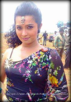 Radhika Pandit on the sets of Dilwala.