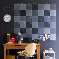Wall Calendar - Chalkboard Paint Ideas - Bob Vila