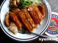 【簡単!!】おすすめです。豚ロース肉のガーリックバターしょうゆ丼|山本ゆりオフィシャルブログ「含み笑いのカフェごはん『syunkon』」Powered by Ameba