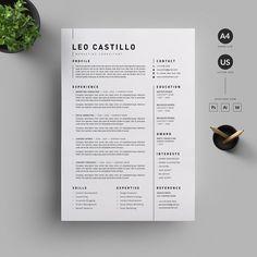 Resume/CV by Reuix Studio Modern Resume Template / CV Template + Cover Letter Business Resume, Resume Cv, Resume Tips, Resume Ideas, Free Resume Examples, Creative Resume Templates, Design Templates, Book Cover Design, Book Design