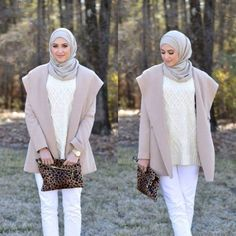 winter hijab chic, Winter hijab street styles by leena Asaad http://www.justtrendygirls.com/winter-hijab-street-styles-by-leena-asaad/