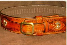 Western Leather Gun Belts