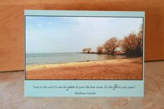 Beach Inspirational Nature Photo Card 5x7 by NicoletteAnneDesign