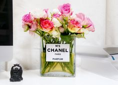 Chanel flower vase DIY