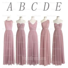 Mismatched Popular bridesmaid dress,Dusty thistle bridesmaid dress, Chiffon Long Bridesmaid Dress, BD14140