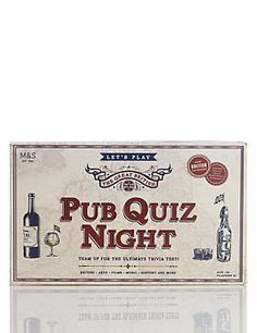 Buy the Pub Quiz Night Trivia from Marks and Spencer's range. Christmas Gifts For Him, Christmas Wishes, Secret Santa Gifts, Small Gifts, Trivia, Clever, This Or That Questions, Night, Pub Ideas