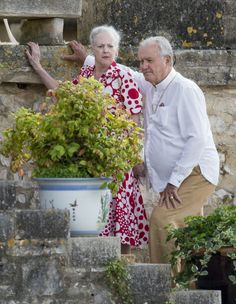 Queen Margrethe II of Denmark and Prince Henrik of Denmark attends a Photocall at Chateau de Cayx on June 11, 2014 in Luzech, France.