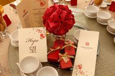 Chinese Themed Wedding in Red and Brown: if you decide to go Chinese :)