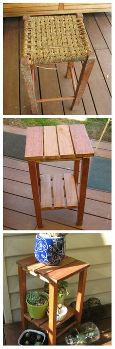 My Stool before and after and now..