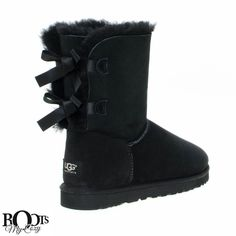 UGG Bailey Bow Black Boots - Women's