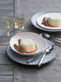 Panna cotta with rhubarb topping  | Thermomix 15th Anniversary 2016 Calendar