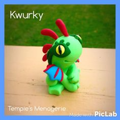 Kwurky Green Baby Murloc World of Warcraft WoW by TempiesMenagerie