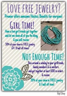 Who doesn't like free jewelry?!!! Visit my site at Annataylor.myprem