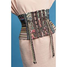 Byron Lars Lina Corset Belt (20.365 RUB) ❤ liked on Polyvore featuring accessories, belts, green, byron lars, green belt, corset belt and wide corset belt