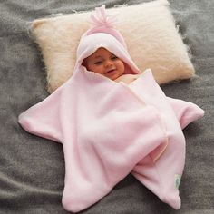 Star Fleece Baby Wrap by Tuppence and Crumble: Adorable! Available in a variety of colors. #Baby_Fleece #Star #Tuppence_&_Crumble