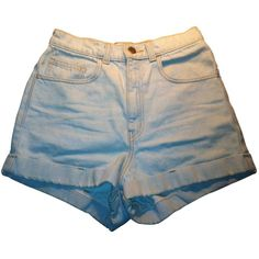 Pre-owned American Apparel Shorts ($36) ❤ liked on Polyvore featuring shorts, bottoms, pants, american apparel, short jean shorts, denim shorts, jean shorts and denim short shorts