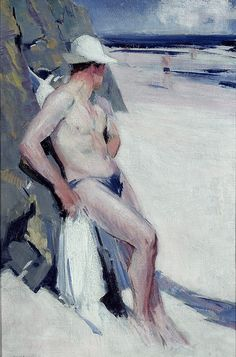 The Bather (Charles Oliver) - F C B Cadell - Portland Gallery