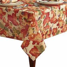 Harvest Festival Harvest Festival Autumn Leaf Tablecloth Fabric Table Cloth 60x120 Oblong