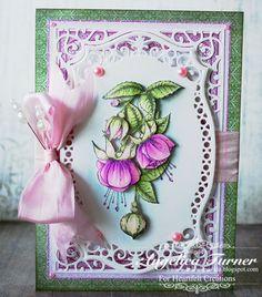 Fuchsia Flowers (Heartfelt Creations) - Scrapbook.com