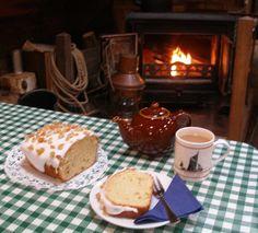 Tea, homemade cake and a warm fire!