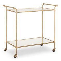 Gold Target Bar Cart