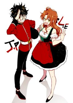 James Potter and Lily Evans Harry Potter Art, Harry Potter Anime, James Potter, Kawaii, Fantastic Beasts, Anime, Anime Style, Harry Potter Artwork