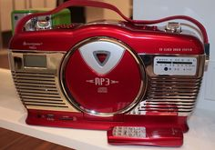 Soundmaster Retro-KofferradioCredit: Sean CaptainGerman firm Soundmaster produces a wide variety of antique-looking radios and music docks. One of its models, a 1950s-inspired boombox in cherry-red and chrome color, is called the Retro-Kofferradio. It's equipped with a radio and hookups for digital music players and memory cards, as well as a CD player — the last perhaps qualifying by itself as a nostalgia piece. It sells for 99 euros (about $125).