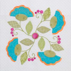 """6  - """"Be Happy"""" Block by Erin Russek at http://erinrussek.typepad.com/one-piece-at-a-time"""