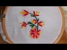 Hand Embroidery: Bullion knot stitch variation - YouTube