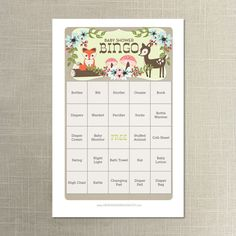 Instant Download  Woodland Baby Shower by CreativeUnionDesign, $5.00