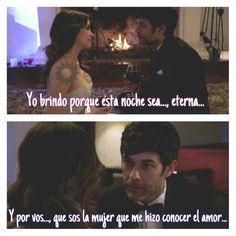 """""""Brindo porque sos la mujer que me hizo conocer el amor""""-Tomás ♡♡♡#EsperanzaMía #Tomanza"""